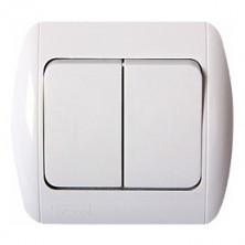 Выключатель E.NEXT e.install.stand.812/2 лестничный двухклавишный с рамкой (s035050)
