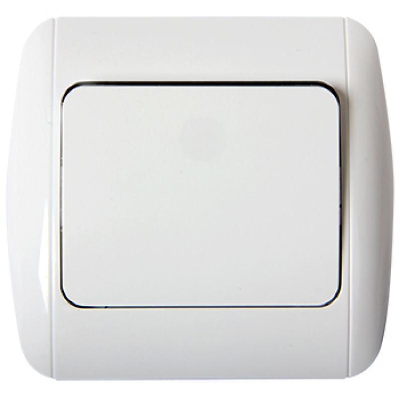 Выключатель E.NEXT e.install.stand.811/2+f.cer лестничный с рамкой (s035038c)