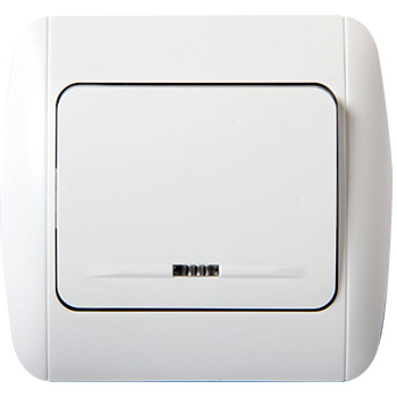 Выключатель E.NEXT e.install.stand.811L одноклавишный с подсветкой (s035001)