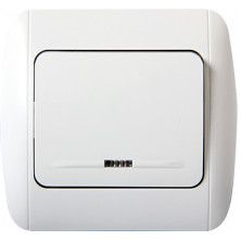 Выключатель E.NEXT e.install.stand.811L+f.cer одноклавишный с подсветкой с рамкой (s035040c)