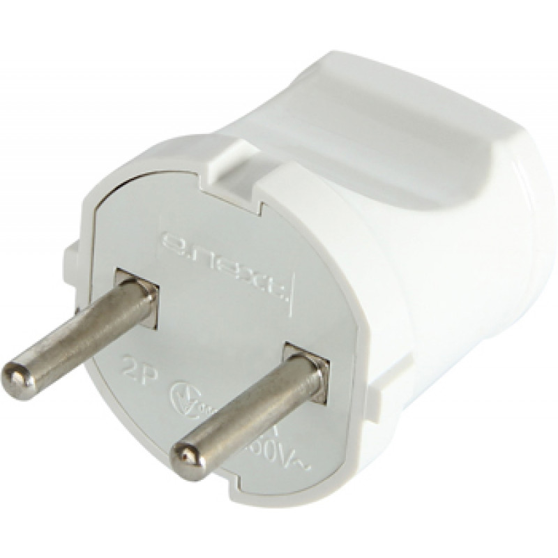 Вилка бытовая E.NEXT e.plug.001.10, без заземления, 10А белая (s9100001)