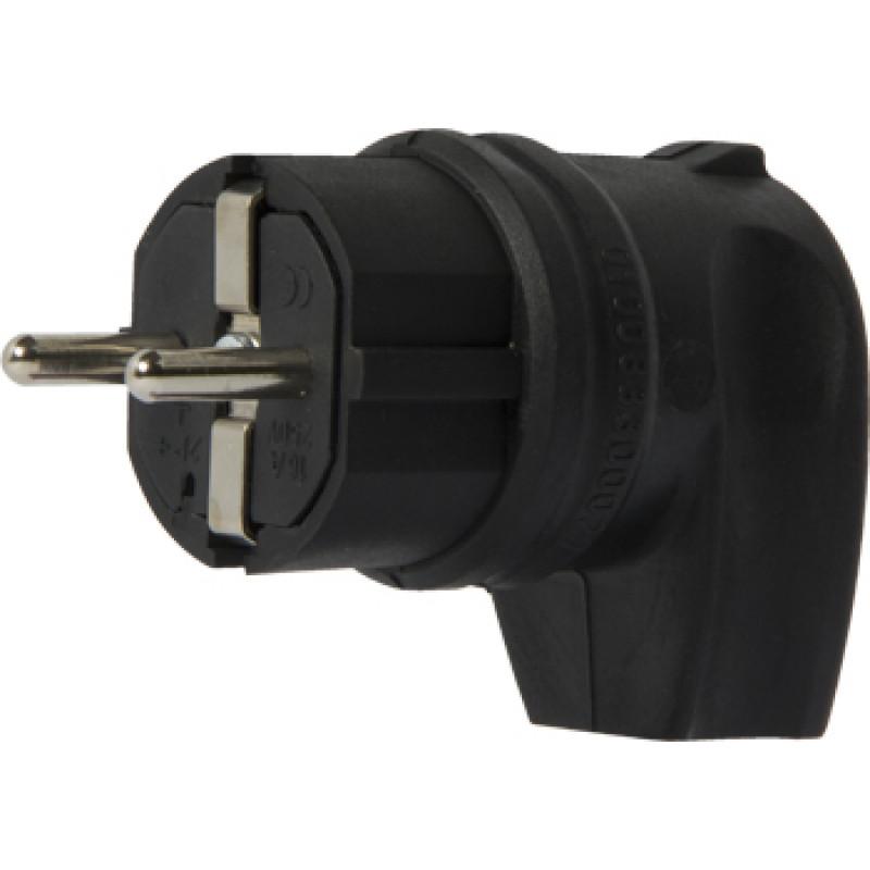 Вилка угловая каучуковая E.NEXT e.plug.rubber.angle.027.16, с заземлением, 16А (s9100030)