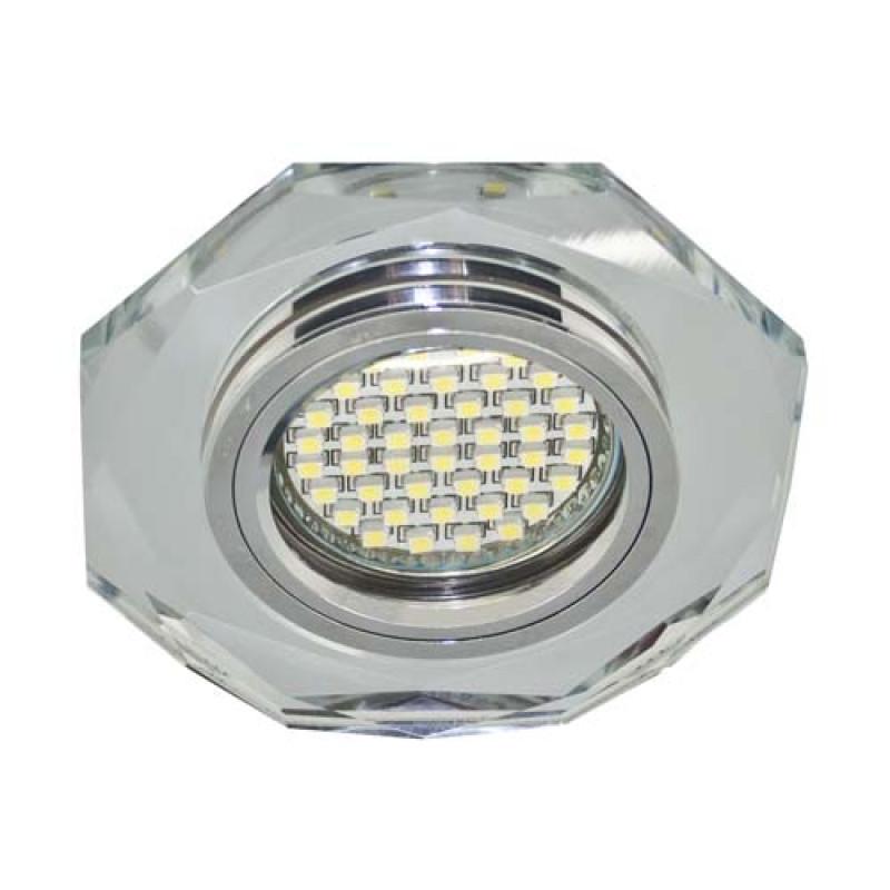 Встраиваемый светильник Feron 8020-2 с LED подсветкой (28488)