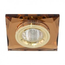 Встраиваемый светильник Feron 8150-2 коричневый золото (20123)