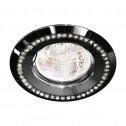 Встраиваемый светильник Feron DL103-BK прозрачный черный (28449)