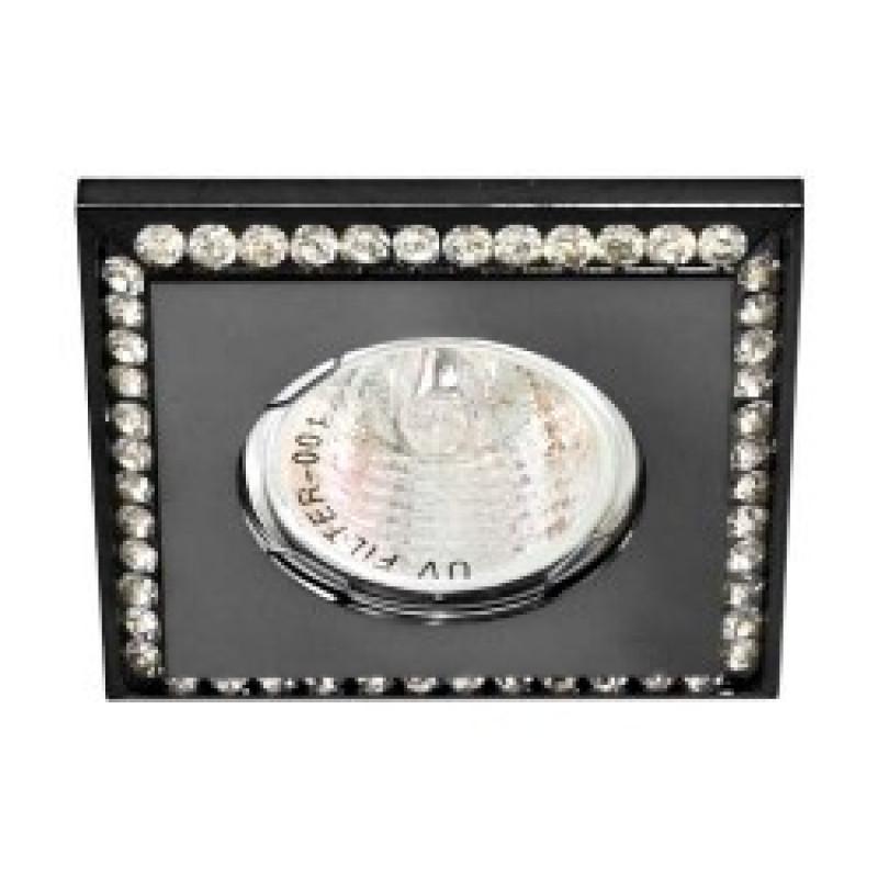 Встраиваемый светильник Feron DL102-BK прозрачный черный (28447)