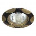 Встраиваемый светильник Feron 156Т MR-16 черный металлик золото (17770)