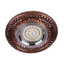 Встраиваемый светильник Feron CD877 с LED подсветкой чайный (28605)