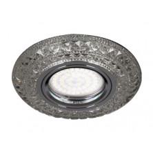Встраиваемый светильник Feron CD877 с LED подсветкой прозрачный (28604)