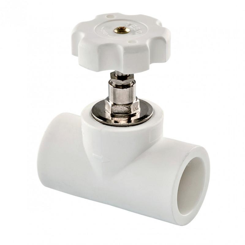 Вентиль полипропиленовый (PPR) 20 TEBO белый