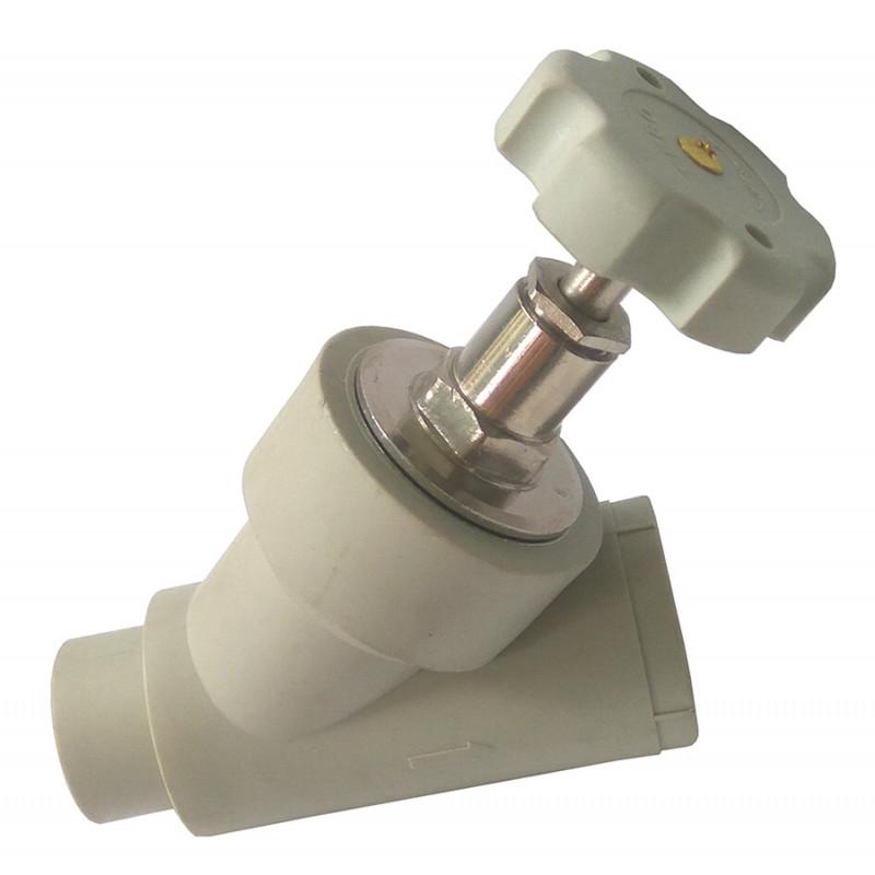 Вентиль балансировочный полипропиленовый (PPR) 25 TEBO серый