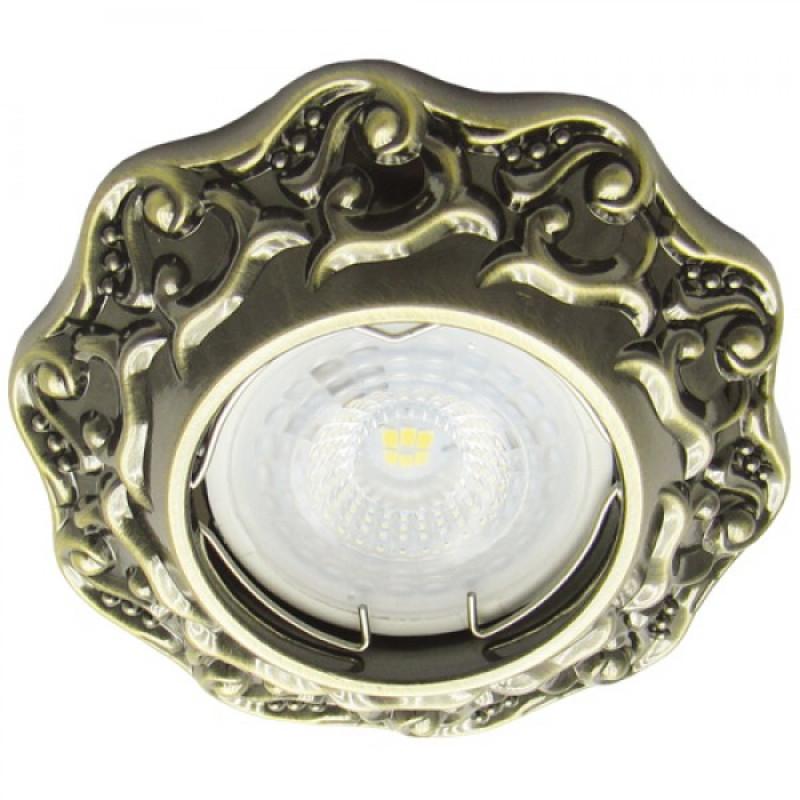 Встраиваемый светильник Feron DL6241 античное золото (30135)