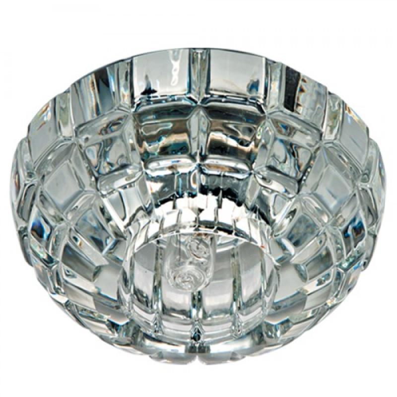 Встраиваемый светильник Feron JD87 прозрачный хром (18859)