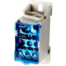 Блок распределительный E.NEXT на DIN-рейку, 160А (вход 1 * 10 , 70, 1 * 6 ... 16 кв.мм / выход 6 * 2,5 ... 16 кв.мм)