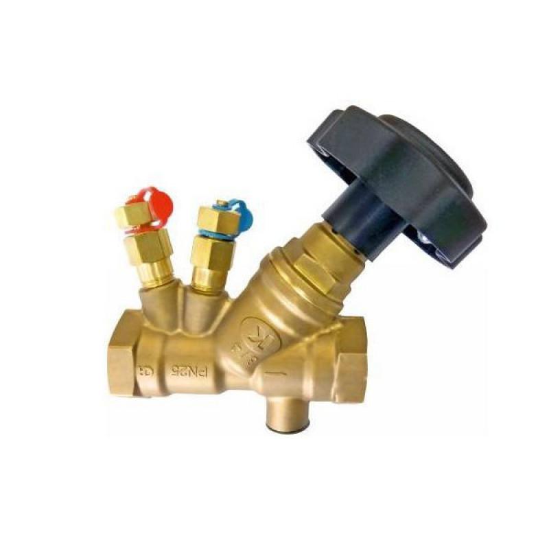 Вентиль балансировочный муфтовый латунный DN 20 PN 25 арт. 221 ZETKAMA; Tmax 300°C