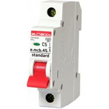 Автоматический выключатель E.NEXT e.mcb.stand.45.1.C5, 1р, 5А, C, 4,5 кА (s002005)