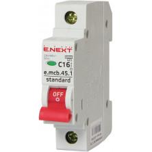 Автоматический выключатель E.NEXT e.mcb.stand.45.1.C16, 1р, 16А, C, 4,5 кА (s002008)