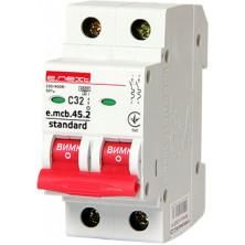 Автоматический выключатель E.NEXT e.mcb.stand.45.2.C32, 2р, 32А, C, 4,5 кА (s002020)