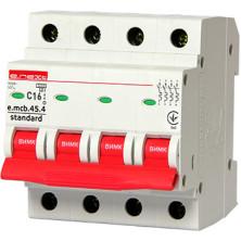Автоматический выключатель E.NEXT e.mcb.stand.45.4.C16, 4р, 16А, C, 4,5 кА (s002047)