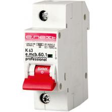 Автоматический выключатель E.NEXT e.mcb.pro.60.1.K 63, 1р, 63А, K, 6кА (p0430001)
