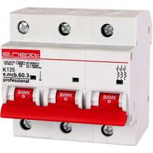 Автоматический выключатель E.NEXT e.mcb.pro.60.3.K 125, 3р, 125А, K, 6кА (p0430008)