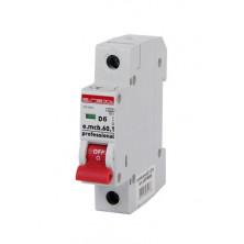 Автоматический выключатель E.NEXT e.mcb.pro.60.1.D.6, 1p, 6А, D, 6кА (p0710006)