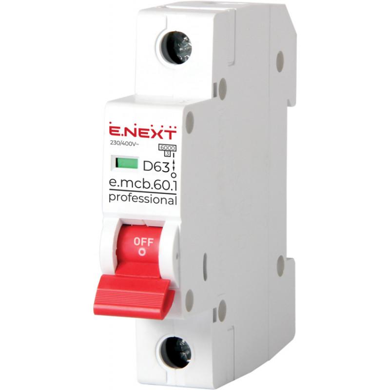Автоматический выключатель E.NEXT e.mcb.pro.60.1.D.20, 1р, 20А, D, 6кА (p0710024)