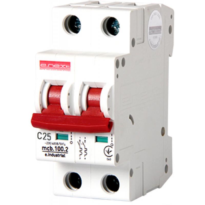 Автоматический выключатель E.NEXT e.industrial.mcb.100.2.C25, 2p, 25А, C, 10кА (i0180014)