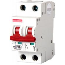 Автоматический выключатель E.NEXT e.industrial.mcb.100.2.C16, 2p, 16А, C, 10кА (i0180012)