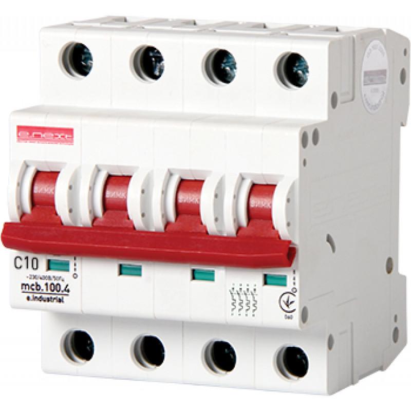 Автоматический выключатель E.NEXT e.industrial.mcb.100.4.C10, 4p, 10А, C, 10кА (i0180029)