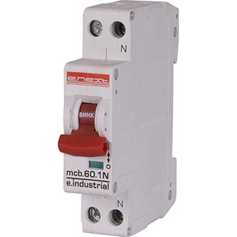 Автоматический выключатель E.NEXT e.industrial.mcb.60.1N.C16.thin, 1 + N р, 16А, C, 6кА (i0170003)