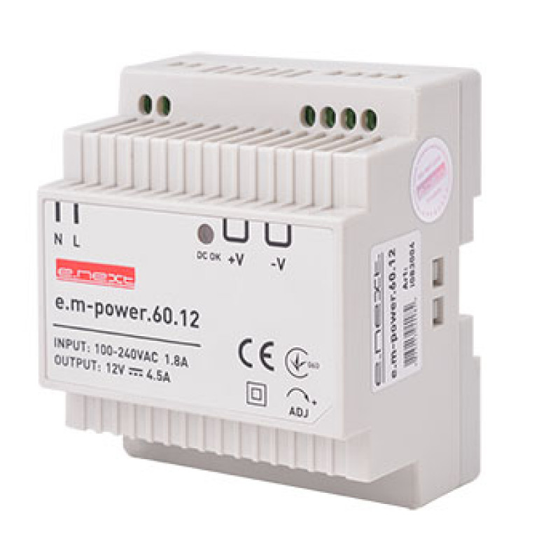 Блок питания на DIN-рейку E.NEXT e.m-power.60.12 60Вт, DC12В (i083004)
