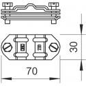 Биметаллическаяразделительнаявставкаd8-10иFL30мм.