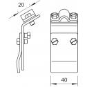 Биметаллическая клемма для водосточного желоба, для любого борта OBO Bettermann (5316170)