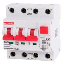 Выключатель дифференциального тока с защитой от сверхтоков E.NEXT e.rcbo.pro.4.C25.30, 3P+N, 25А, С, тип А, 30мА (p0720016)