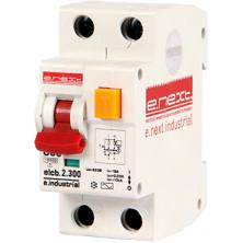 Выключатель дифференциального тока E.NEXT e.industrial.elcb.2.C20.300, 2р, 20А, С, 300мА (i0230010)